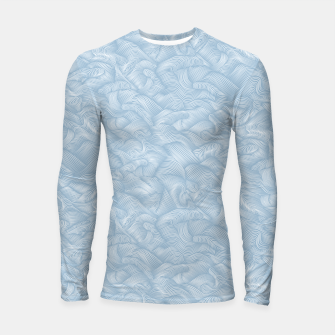 Silky Waves of the Boundless Blue Sea Longsleeve rashguard  Bild der Miniatur