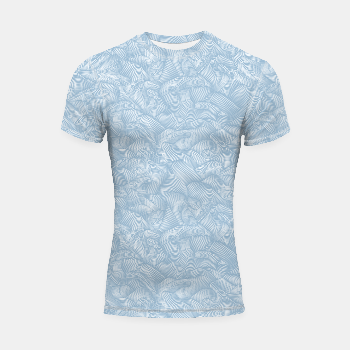 Foto Silky Waves of the Boundless Blue Sea Shortsleeve rashguard - Live Heroes