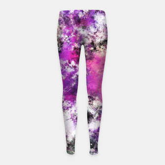 Thumbnail image of Reflecting the purple water Girl's leggings, Live Heroes