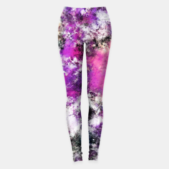 Thumbnail image of Reflecting the purple water Leggings, Live Heroes