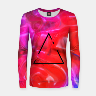 Thumbnail image of Translucent Iridescent Art Women sweater, Live Heroes
