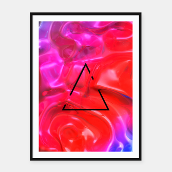 Thumbnail image of Translucent Iridescent Art Framed poster, Live Heroes