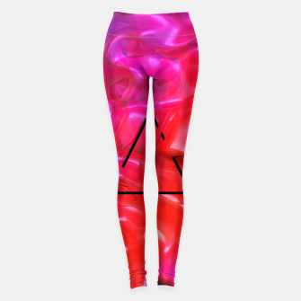Thumbnail image of Translucent Iridescent Art Leggings, Live Heroes