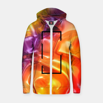 Thumbnail image of  Translucent Iridescent Art Zip up hoodie, Live Heroes
