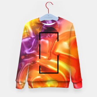 Thumbnail image of  Translucent Iridescent Art Kid's sweater, Live Heroes