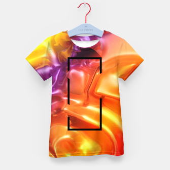 Thumbnail image of  Translucent Iridescent Art Kid's t-shirt, Live Heroes