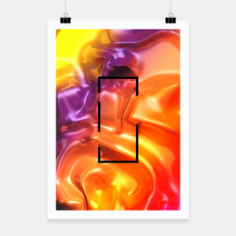 Thumbnail image of  Translucent Iridescent Art Poster, Live Heroes