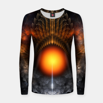 Thumbnail image of The Dream Orb Fractal Fantasy Art Women sweater, Live Heroes