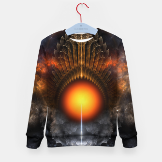 Thumbnail image of The Dream Orb Fractal Fantasy Art Kid's sweater, Live Heroes