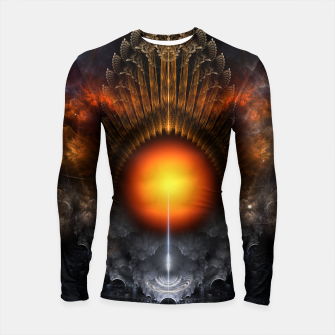 Thumbnail image of The Dream Orb Fractal Fantasy Art Longsleeve rashguard , Live Heroes