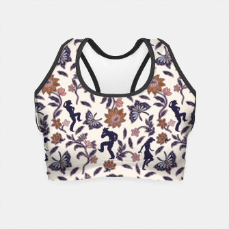 Thumbnail image of Western floral garden Crop Top, Live Heroes
