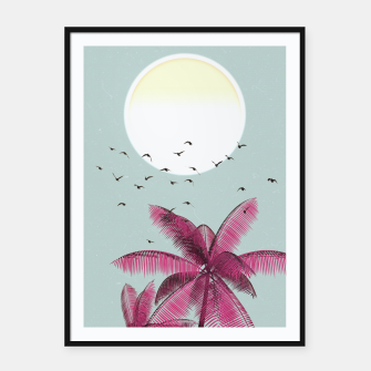 Miniatur Minimal Sun Framed poster, Live Heroes