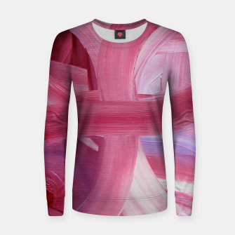 Thumbnail image of Rose petals Women sweater, Live Heroes