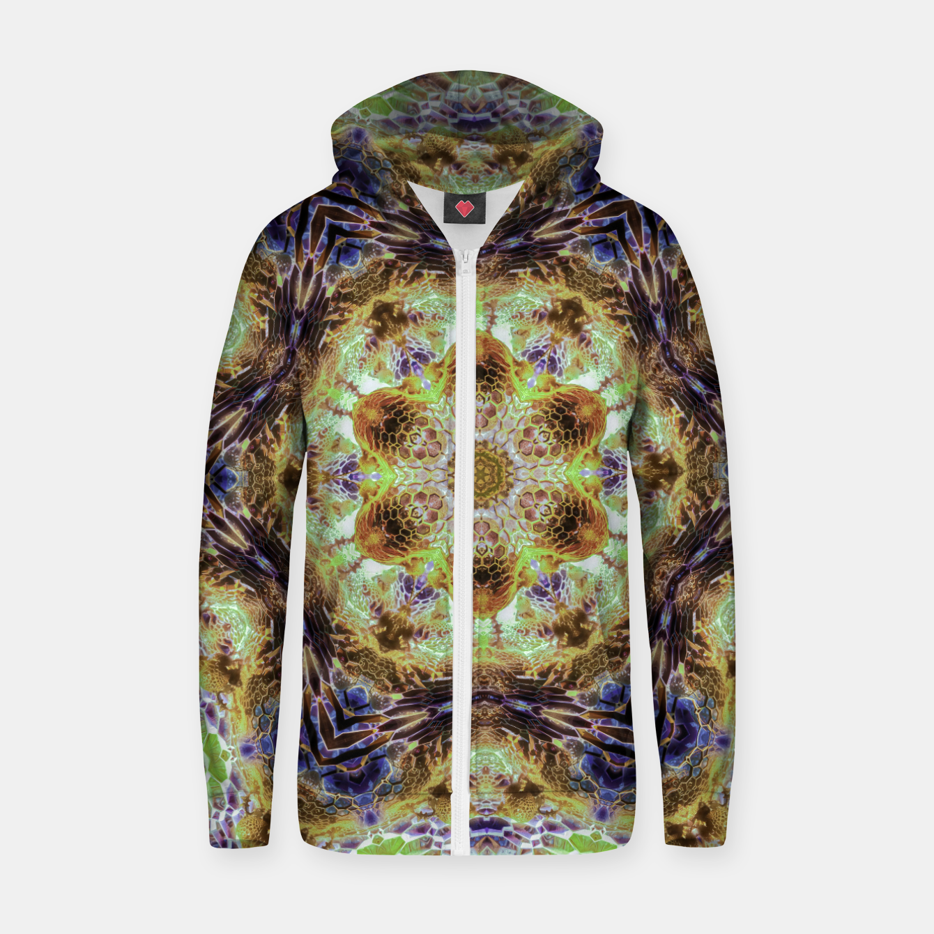 Image of Honeycombs Zip up hoodie - Live Heroes