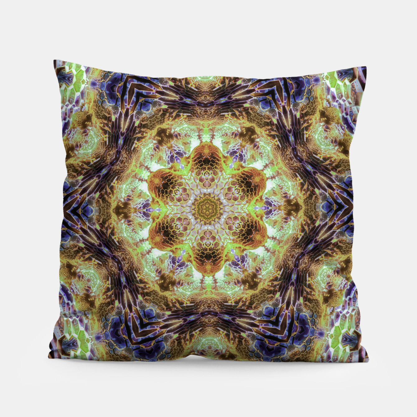 Image of Honeycombs Pillow - Live Heroes