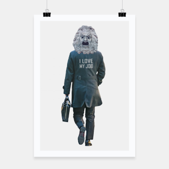 Thumbnail image of Funny Ironic Work Concept Artwork Poster, Live Heroes