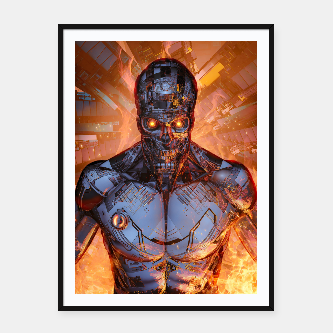 Image of The Fury Framed poster - Live Heroes