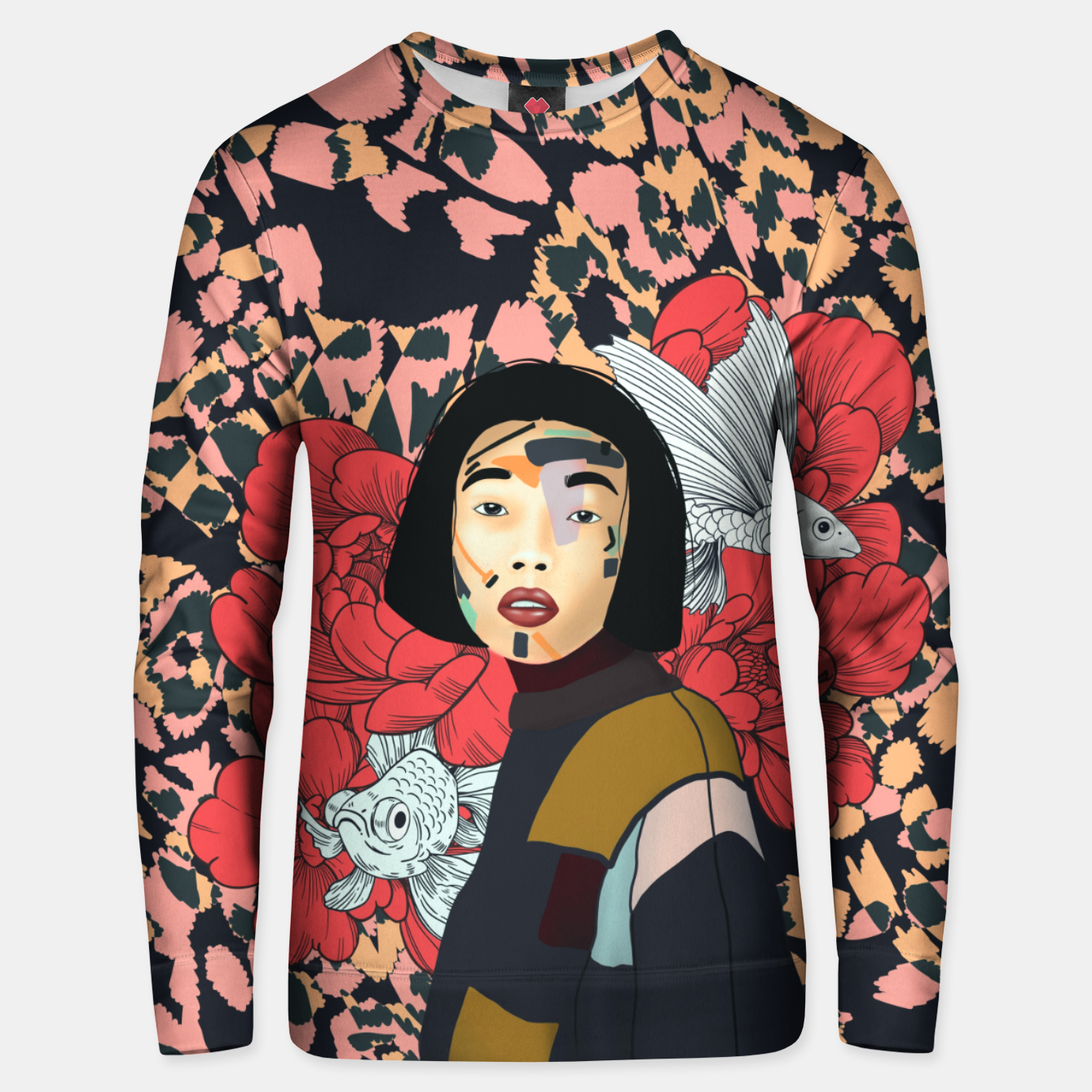 Image of Asian abstract woman Sudadera unisex - Live Heroes