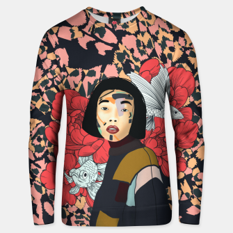 Thumbnail image of Asian abstract woman Sudadera unisex, Live Heroes