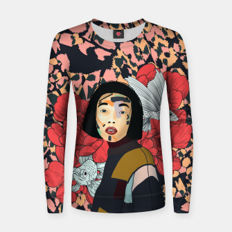 Asian abstract woman Sudadera para mujeres Bild der Miniatur