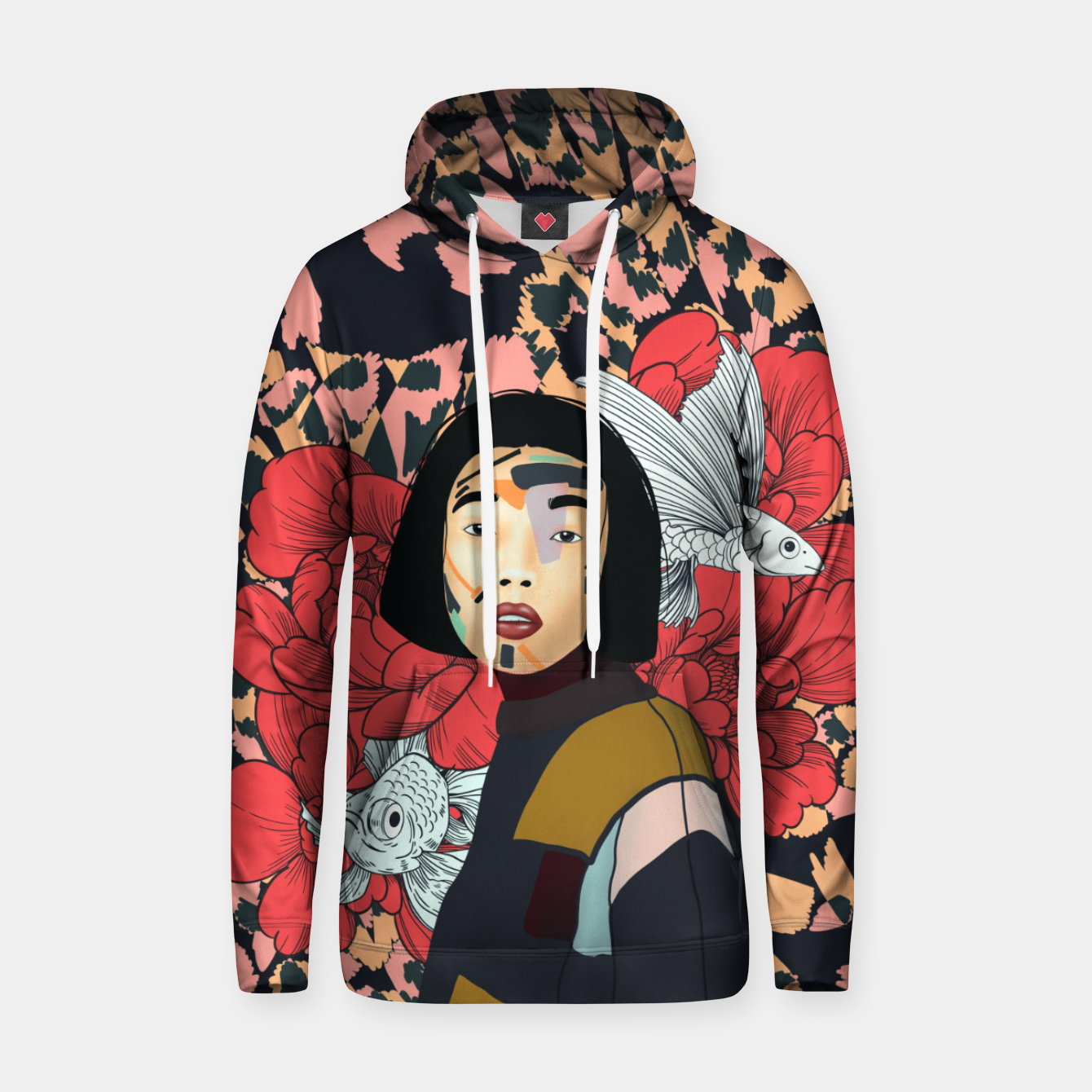 Image de Asian abstract woman Sudadera con capucha - Live Heroes
