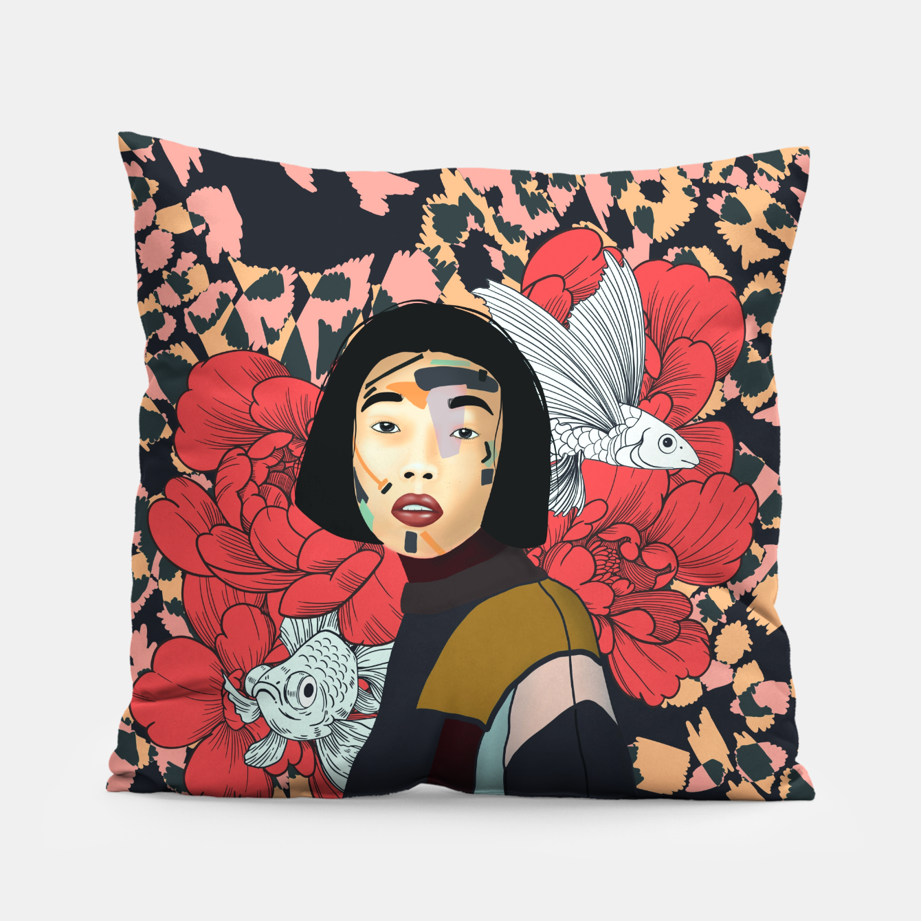 Image de Asian abstract woman Almohada - Live Heroes