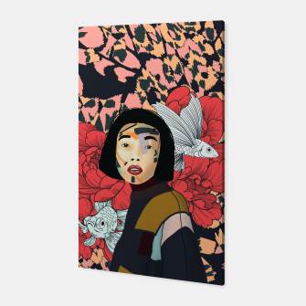 Asian abstract woman Canvas Bild der Miniatur