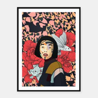 Miniature de image de Asian abstract woman Cartel con marco, Live Heroes