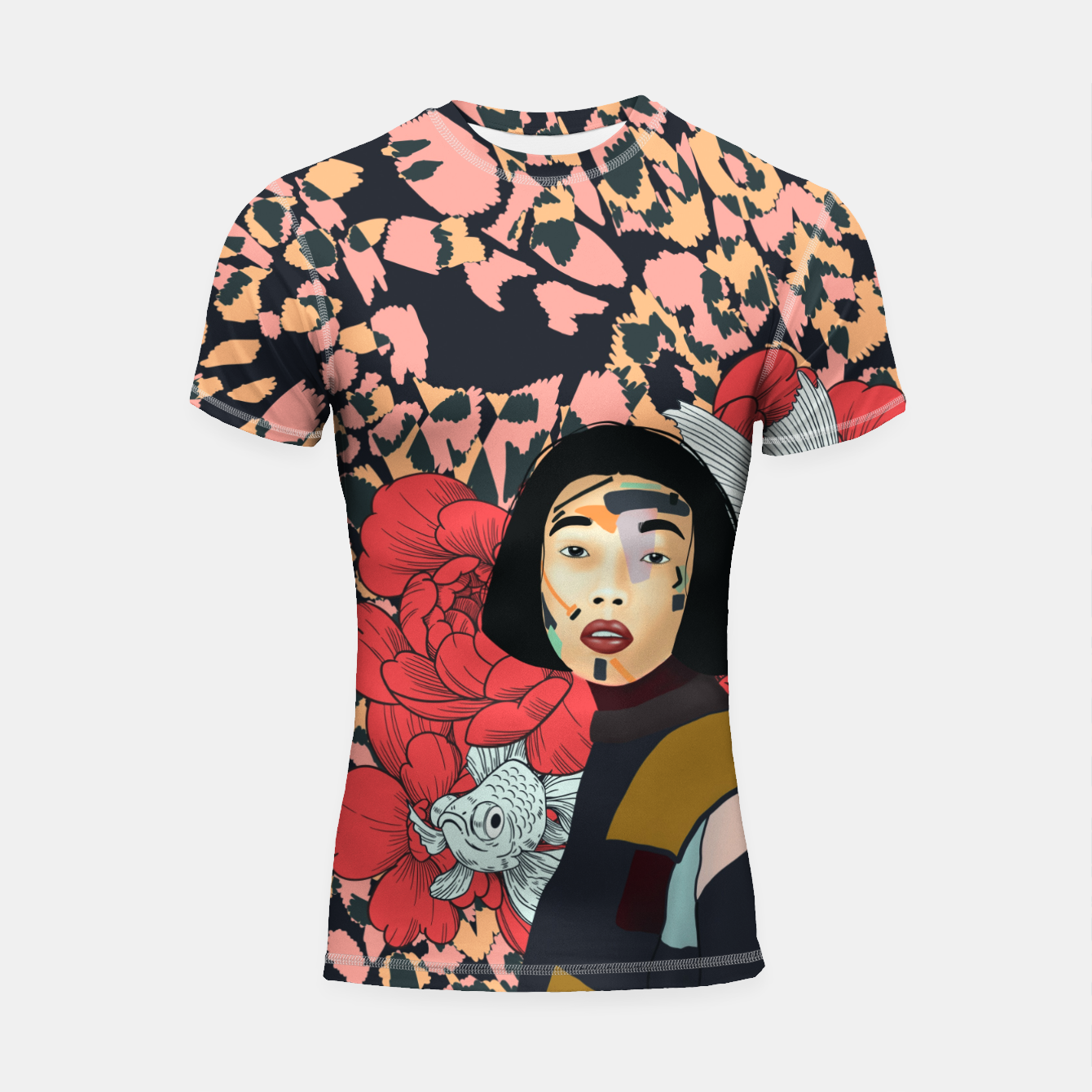 Image de Asian abstract woman Shortsleeve rashguard - Live Heroes