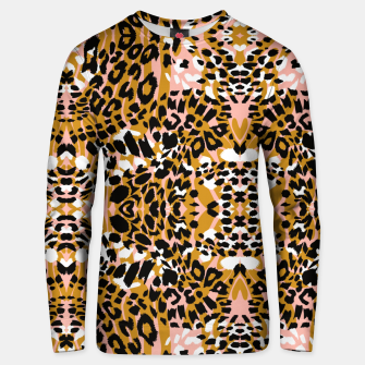 Abstract leopard pink 56 Sudadera unisex miniature