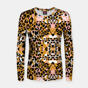 Abstract leopard pink 56 Sudadera para mujeres miniature