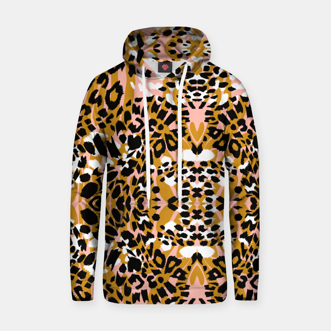 Image of Abstract leopard pink 56 Sudadera con capucha - Live Heroes