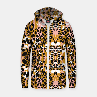 Thumbnail image of Abstract leopard pink 56 Sudadera con capucha y cremallera , Live Heroes