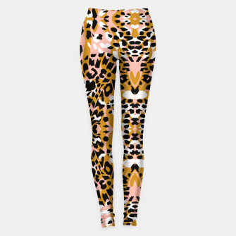 Miniatur Abstract leopard pink 56 Leggings, Live Heroes