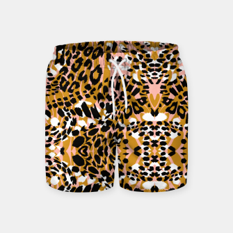 Abstract leopard pink 56 Pantalones de baño miniature