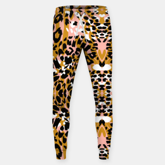 Thumbnail image of Abstract leopard pink 56 Pantalones de chándal , Live Heroes