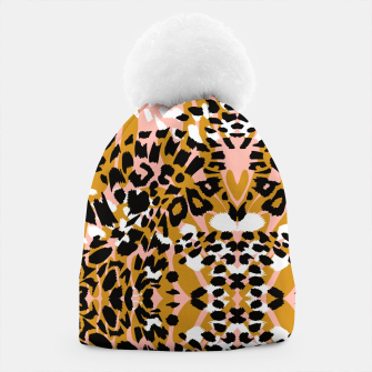Abstract leopard pink 56 Gorro miniature