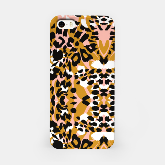 Abstract leopard pink 56 Carcasa por Iphone Bild der Miniatur