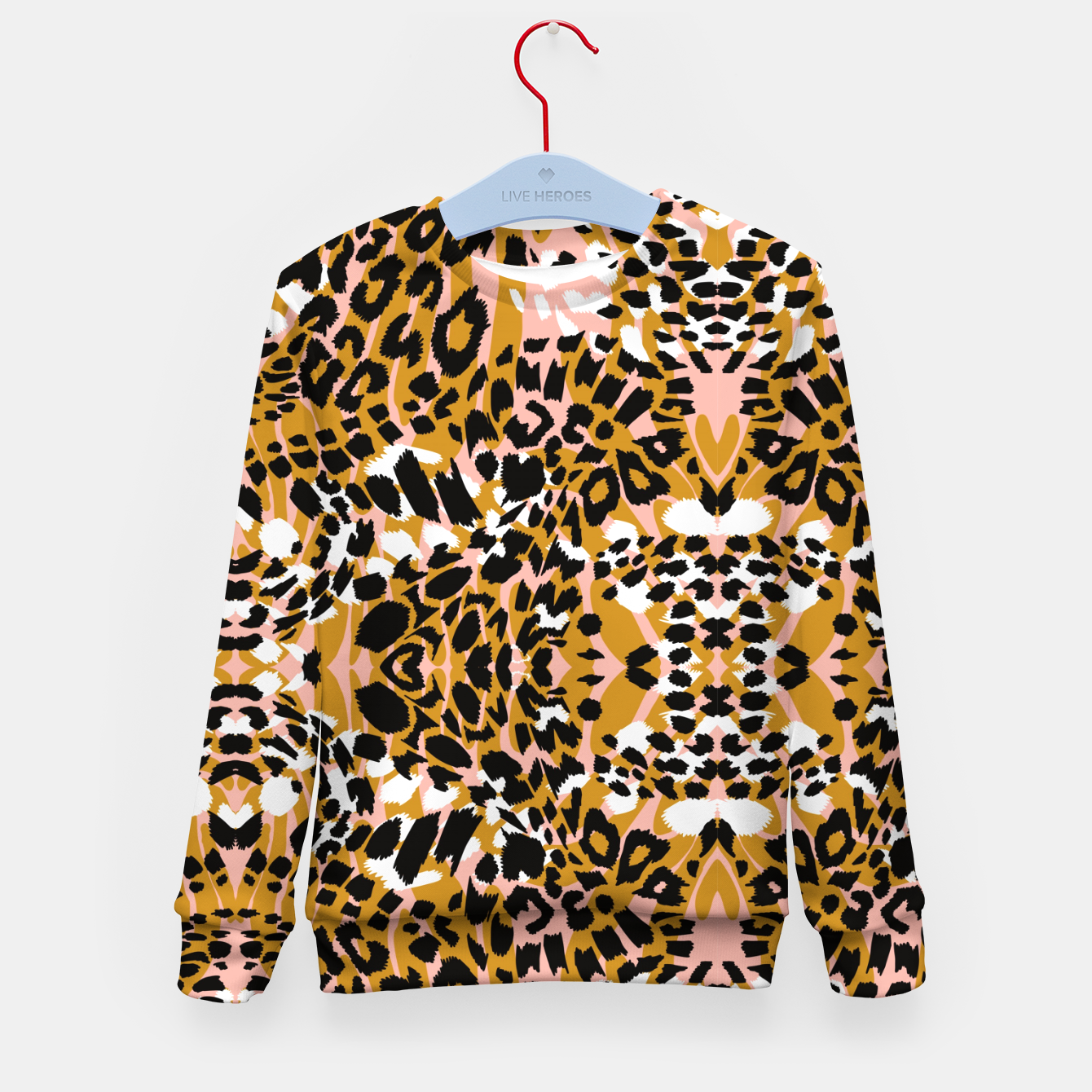 Image of Abstract leopard pink 56 Sudadera para niños - Live Heroes