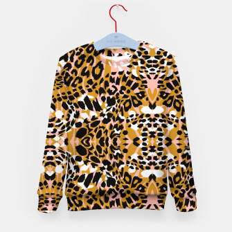 Abstract leopard pink 56 Sudadera para niños miniature