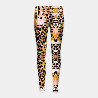 Thumbnail image of Abstract leopard pink 56 Leggings para niña, Live Heroes