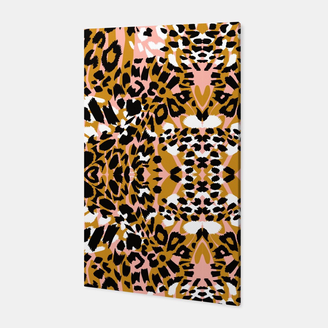 Foto Abstract leopard pink 56 Canvas - Live Heroes