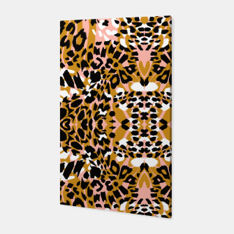 Abstract leopard pink 56 Canvas Bild der Miniatur