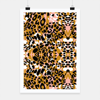 Abstract leopard pink 56 Cartel Bild der Miniatur