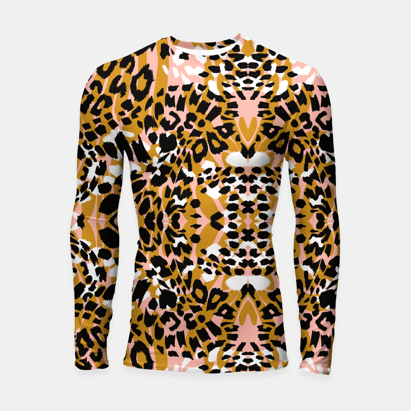 Image of Abstract leopard pink 56 Longsleeve rashguard - Live Heroes
