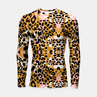 Abstract leopard pink 56 Longsleeve rashguard miniature