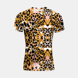 Abstract leopard pink 56 Shortsleeve rashguard miniature