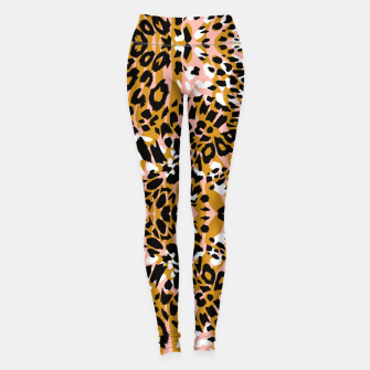 Abstract leopard pink 56 Leggings miniature