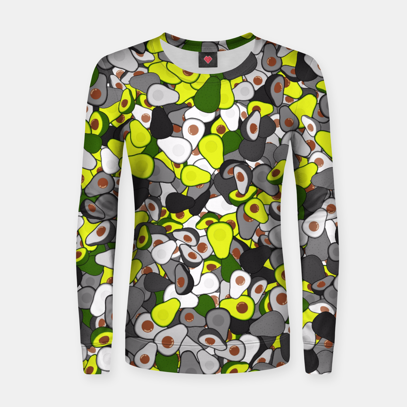 Image of Avocado camouflage Women sweater - Live Heroes