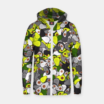 Avocado camouflage Zip up hoodie thumbnail image